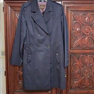 Cole Haan Navy Blue Trench Coat